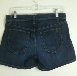 Joe's Dark Wash Denim Jean Shorts